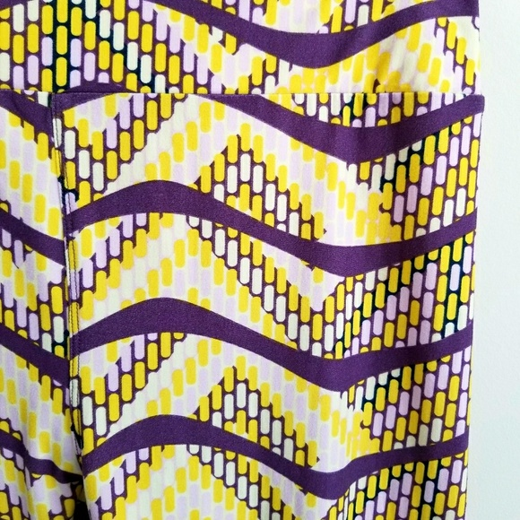 9839ba224d3ac0 LuLaRoe Pants | Tall Curvy Tc Purple Yellow Leggings | Poshmark